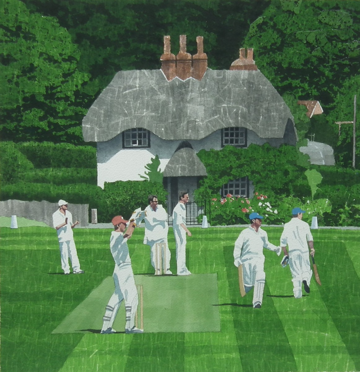 village cricket match In this the author humorously describes a cricket match being played between men from england and men from scotland in the village of fordendanthe cricketers are petty businessmen or local shopkeepers.