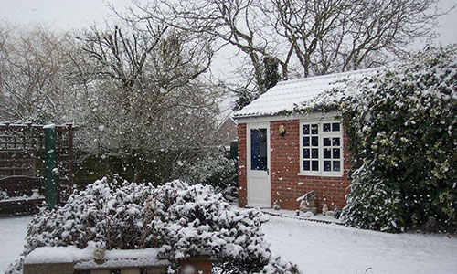 Art studio winter, Mersea, Essex
